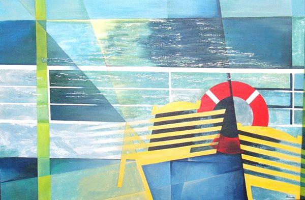 Auftragsmalerei für JRT Schiffsmakler Hamburg, Motiv: Reeling