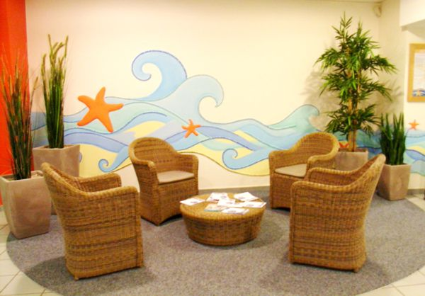 Badepark Wandmosaik Foyer
