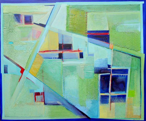 Auftragmalerei für Commerzkontor HH, Motiv: Blick in die Felder