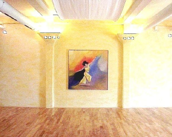 Auftragsmalerei für Fiteffect Buxtehude, Motiv: Tänzerin