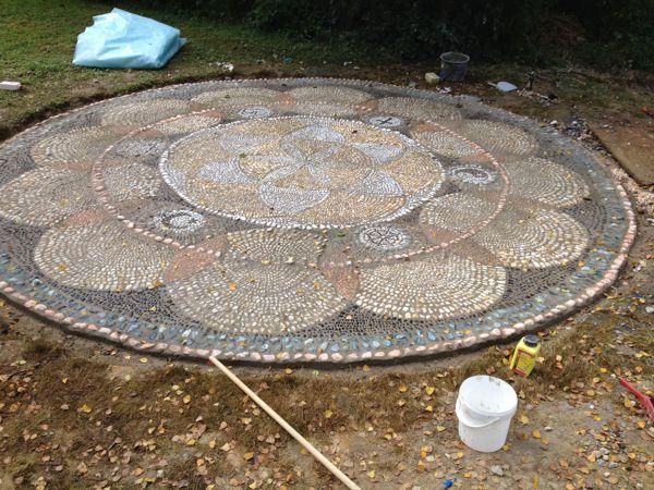 Mandala Fertigstellung (ohne Versiegelung)