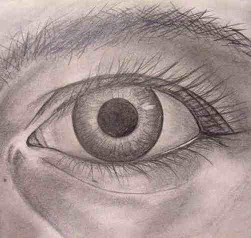 Auge gezeichnet