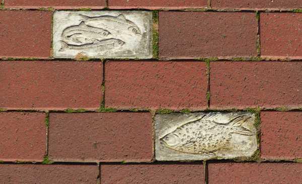 Fischsteine in vorhandener Pflasterung